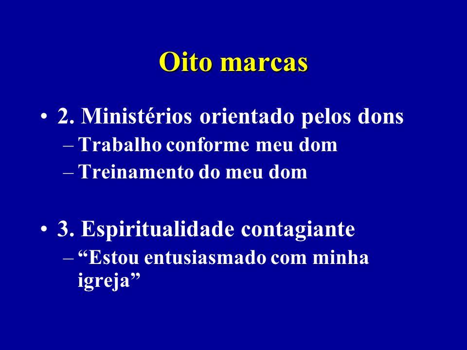 Oito marcas 2. Ministérios orientado pelos dons