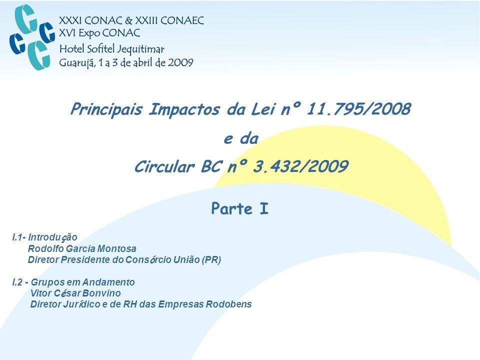 Principais Impactos da Lei nº 11.795/2008