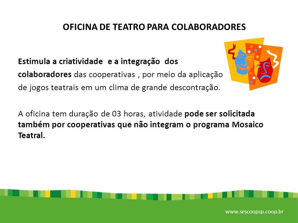 OFICINA DE TEATRO PARA COLABORADORES