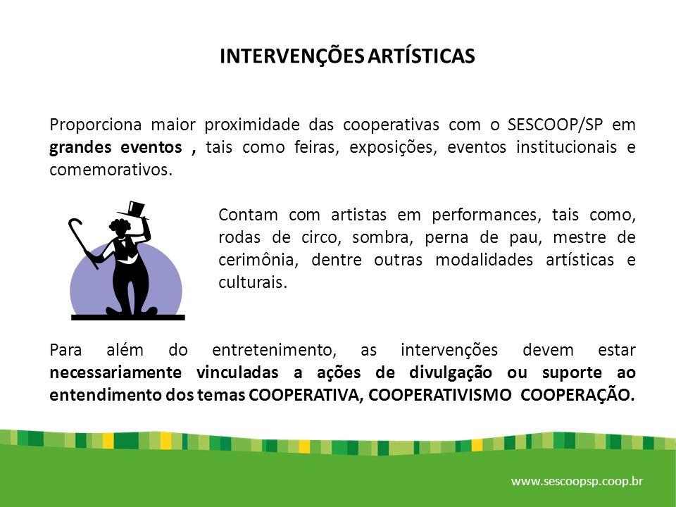 INTERVENÇÕES ARTÍSTICAS