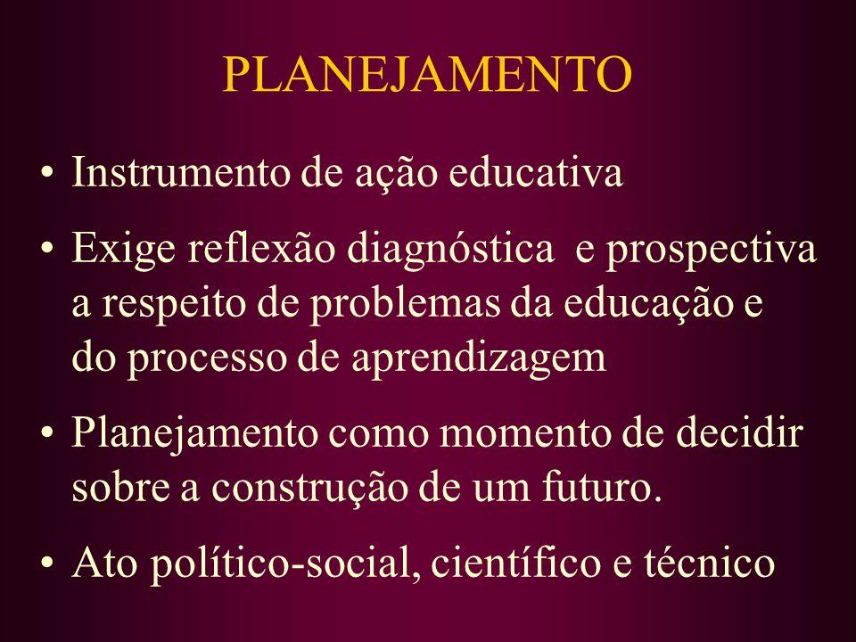 PLANEJAMENTO Instrumento de ação educativa
