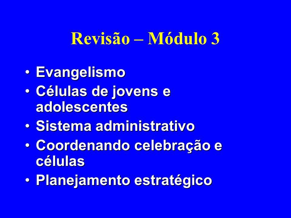 Revisão – Módulo 3 Evangelismo Células de jovens e adolescentes
