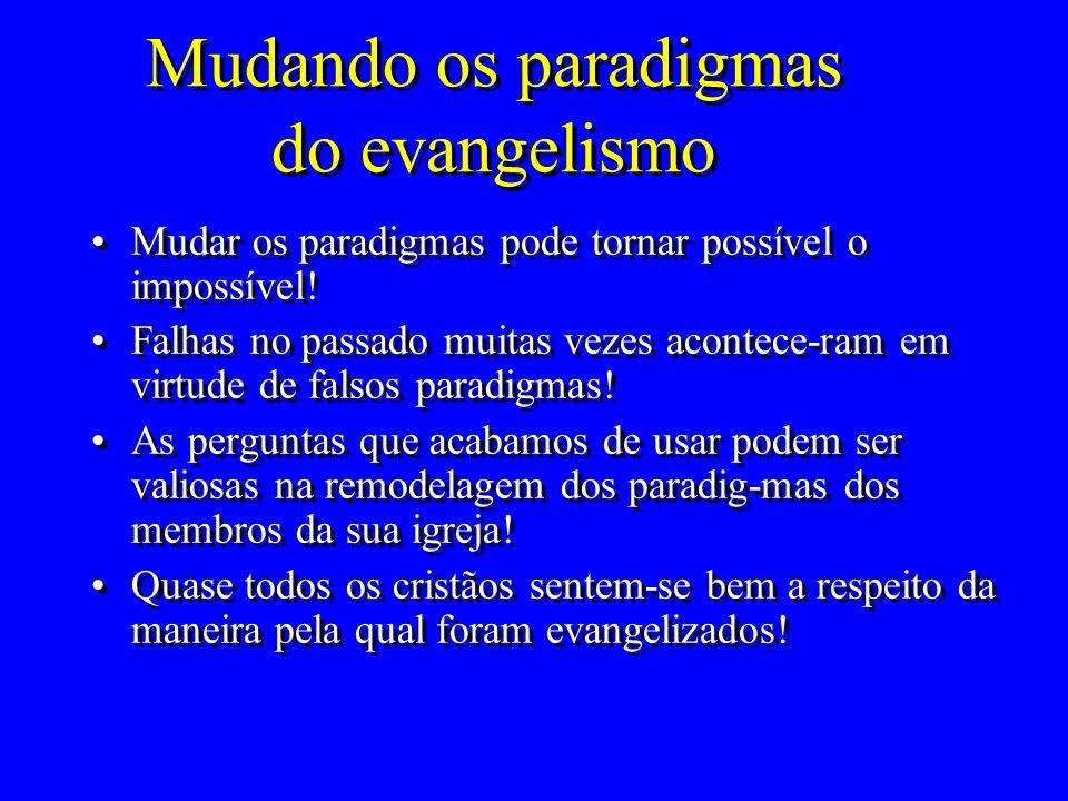 Mudando os paradigmas do evangelismo