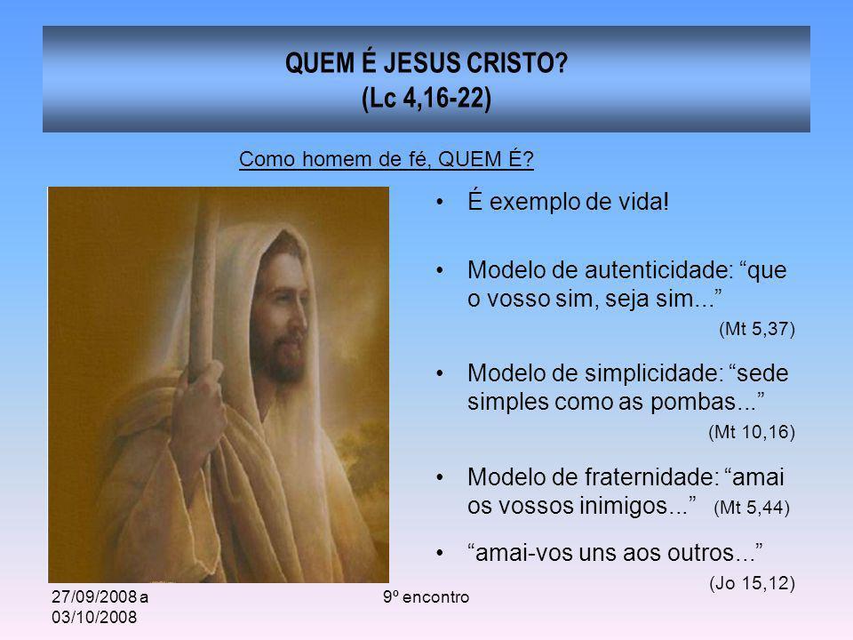 QUEM É JESUS CRISTO (Lc 4,16-22)