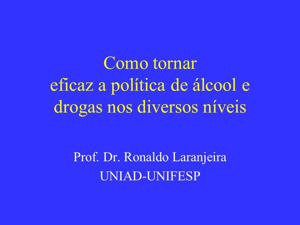 Como tornar eficaz a política de álcool e drogas nos diversos níveis