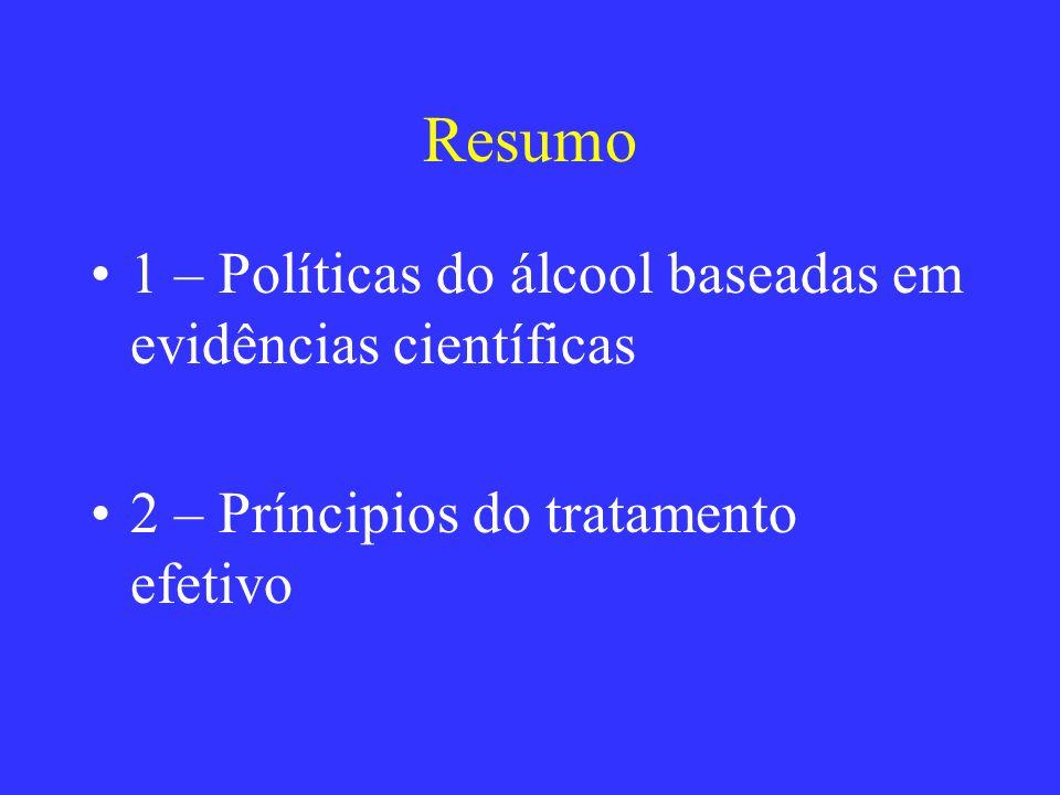 Resumo 1 – Políticas do álcool baseadas em evidências científicas
