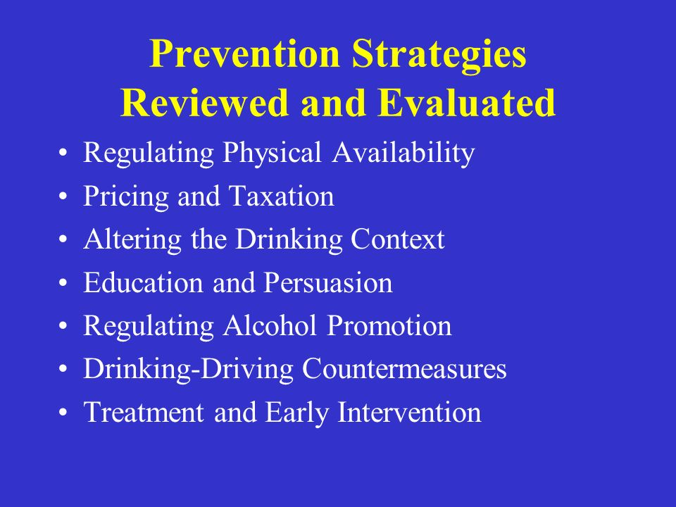 Prevention Strategies Reviewed and Evaluated