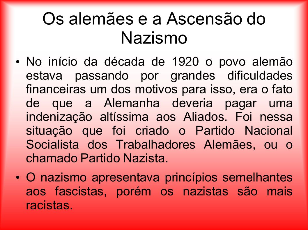 Os alemães e a Ascensão do Nazismo