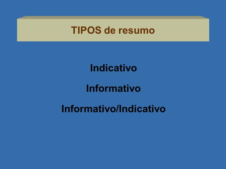 Informativo/Indicativo