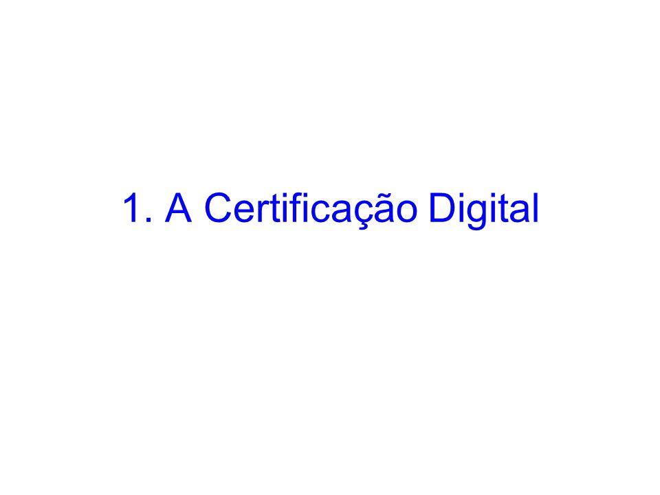 1. A Certificação Digital