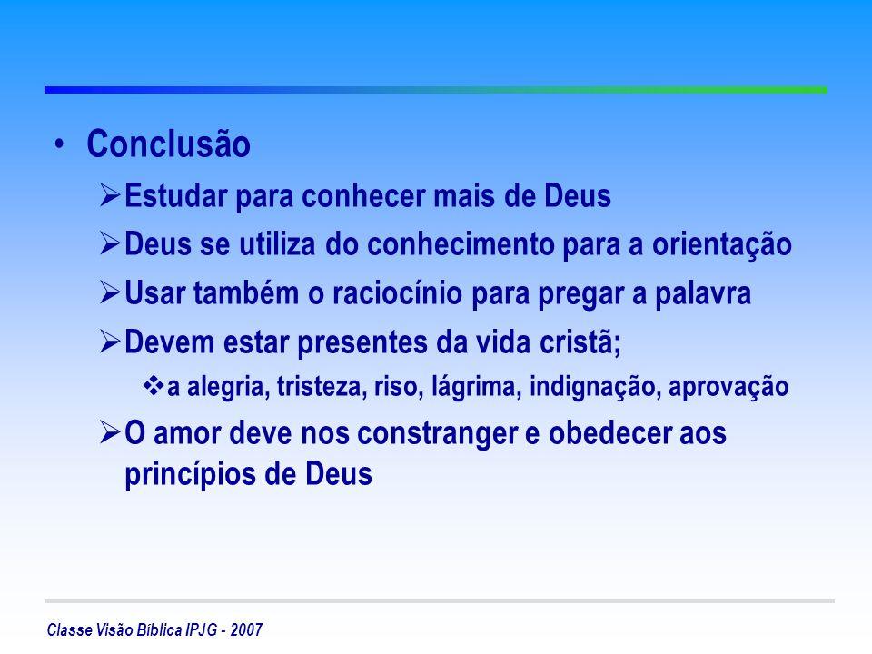 Conclusão Estudar para conhecer mais de Deus