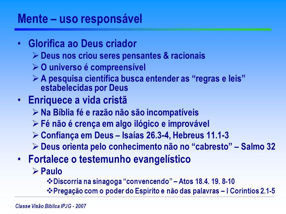 Mente – uso responsável