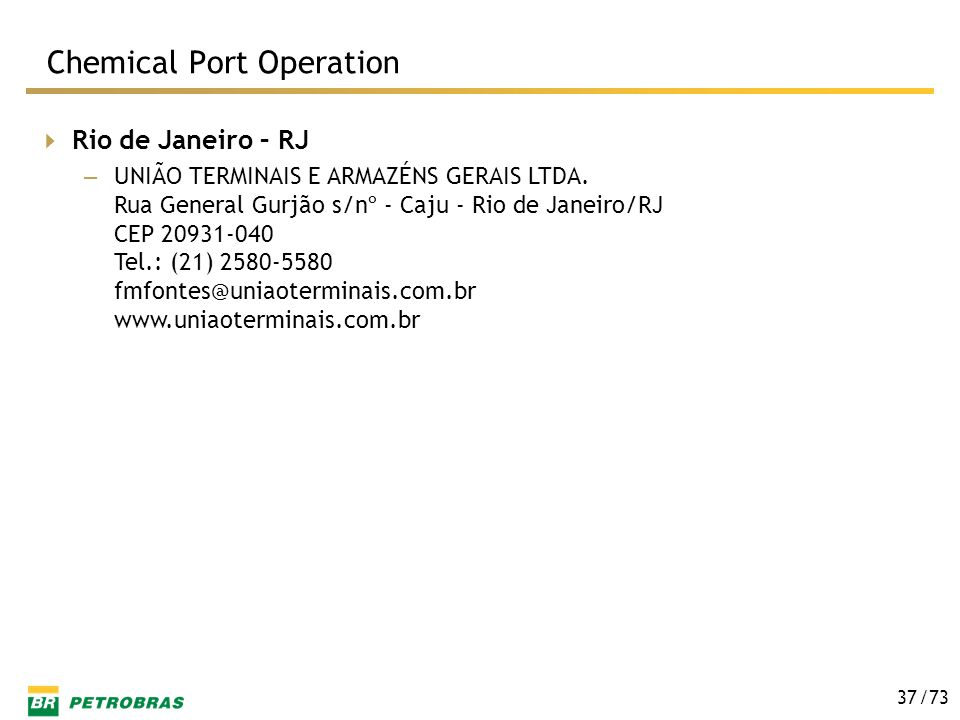 Chemical Port Operation