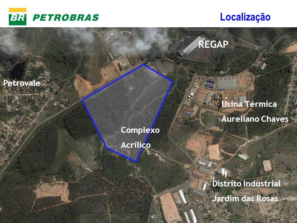 Localização REGAP Petrovale Usina Térmica Aureliano Chaves Complexo