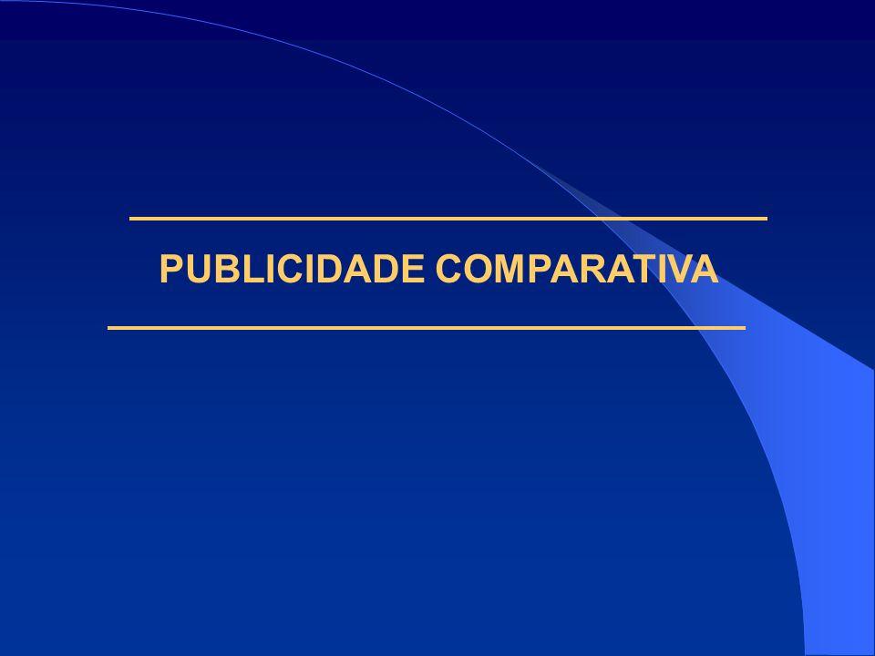 PUBLICIDADE COMPARATIVA