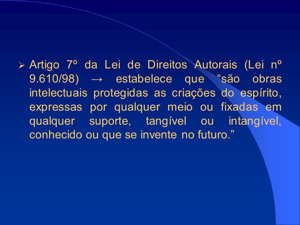 Artigo 7º da Lei de Direitos Autorais (Lei nº 9