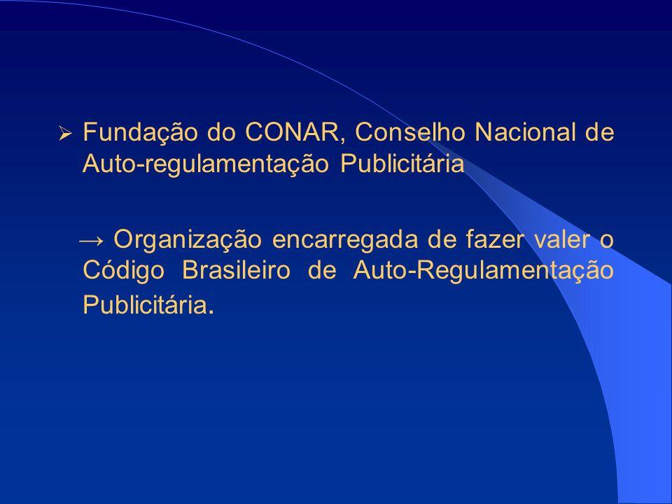 Fundação do CONAR, Conselho Nacional de Auto-regulamentação Publicitária