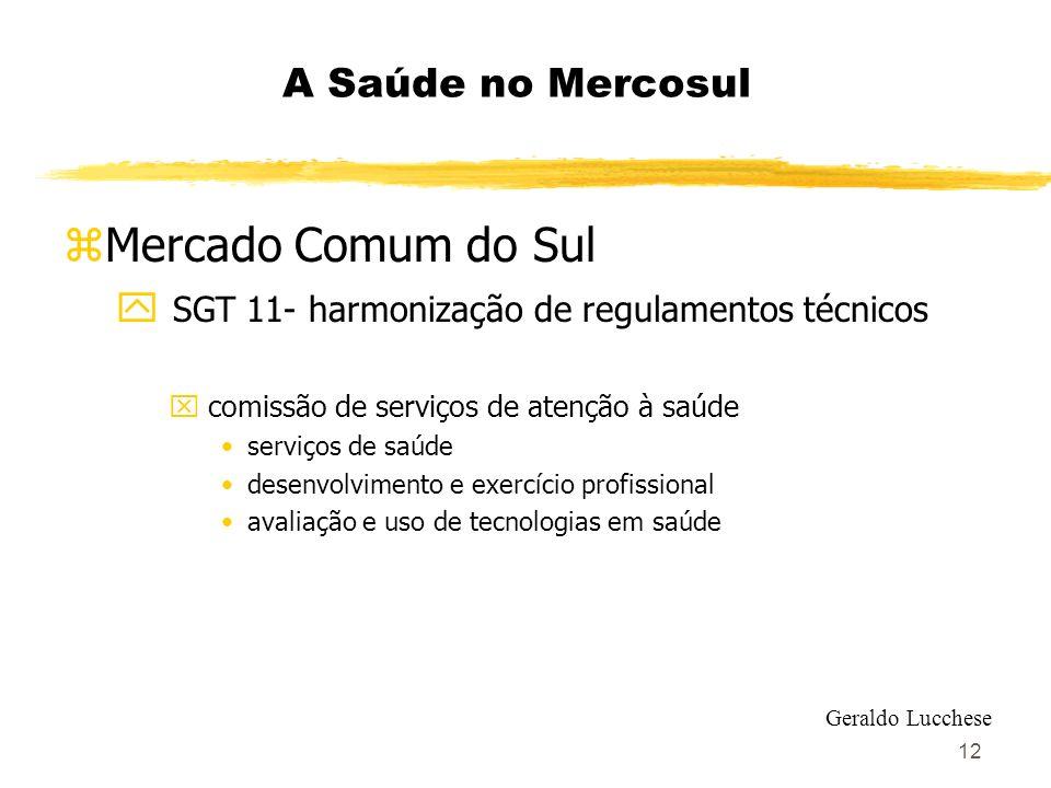 Mercado Comum do Sul A Saúde no Mercosul