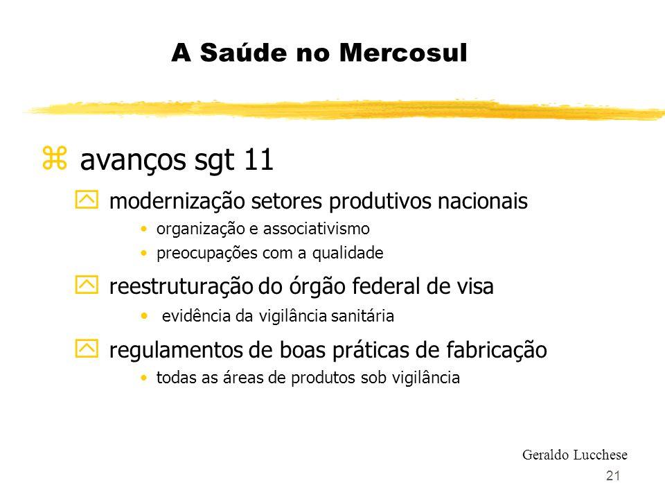 avanços sgt 11 A Saúde no Mercosul