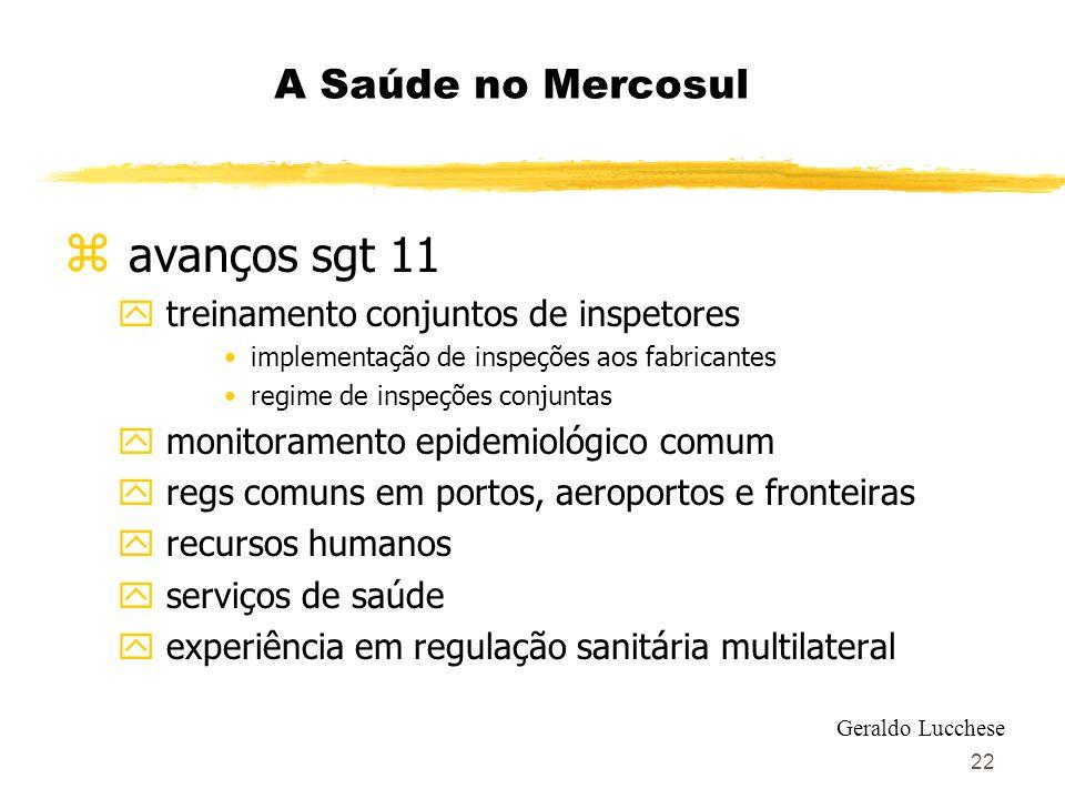 avanços sgt 11 A Saúde no Mercosul treinamento conjuntos de inspetores