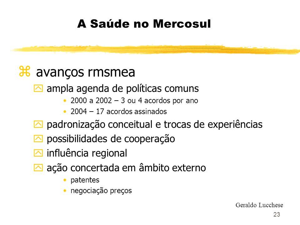 avanços rmsmea A Saúde no Mercosul ampla agenda de políticas comuns