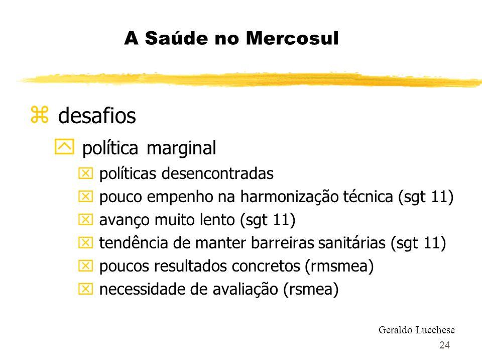 desafios política marginal A Saúde no Mercosul