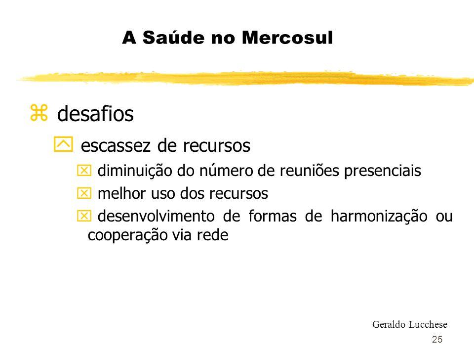 desafios escassez de recursos A Saúde no Mercosul