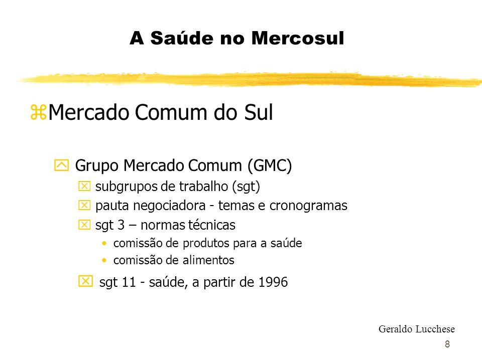 Mercado Comum do Sul A Saúde no Mercosul Grupo Mercado Comum (GMC)