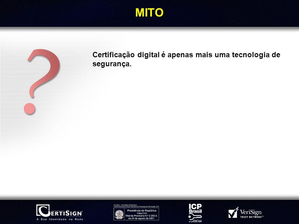 MITO Certificação digital é apenas mais uma tecnologia de segurança.