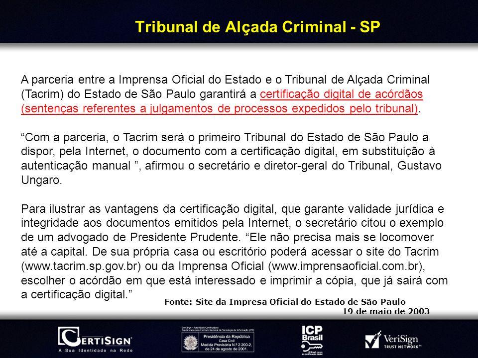Tribunal de Alçada Criminal - SP