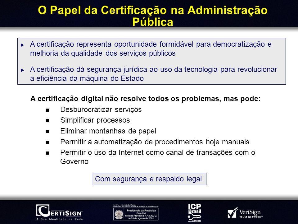 O Papel da Certificação na Administração Pública