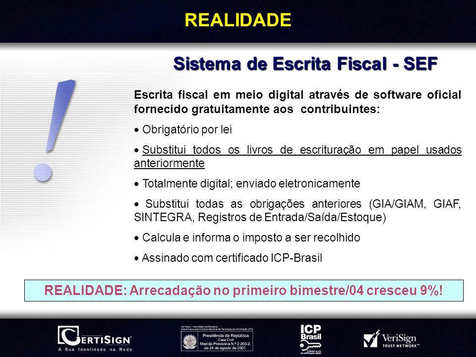 REALIDADE Sistema de Escrita Fiscal - SEF