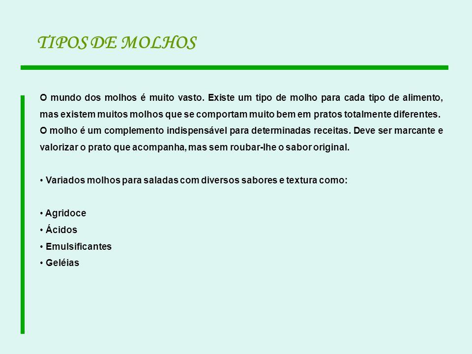 TIPOS DE MOLHOS