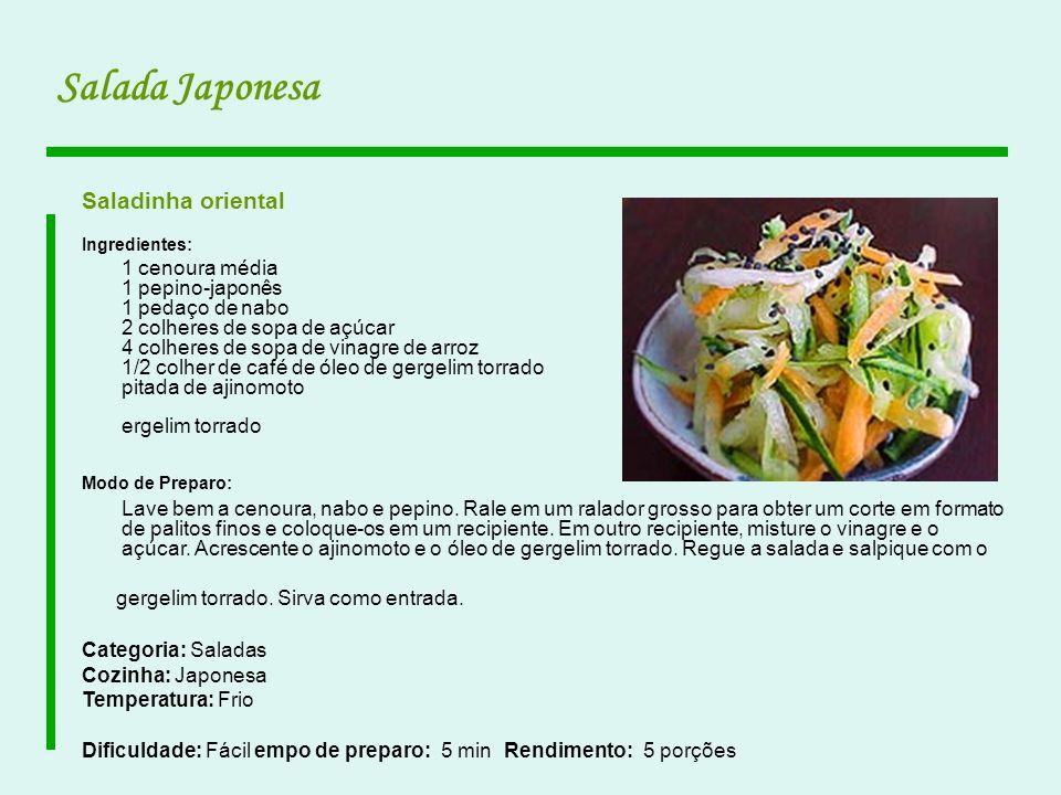 Salada Japonesa Saladinha oriental