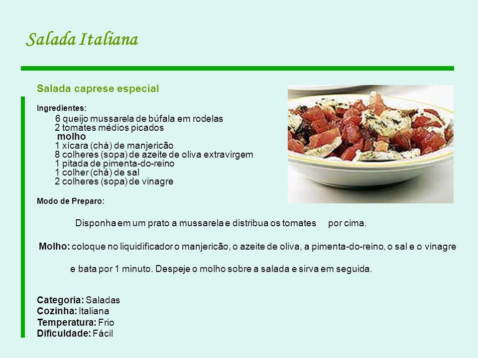 Salada Italiana Salada caprese especial