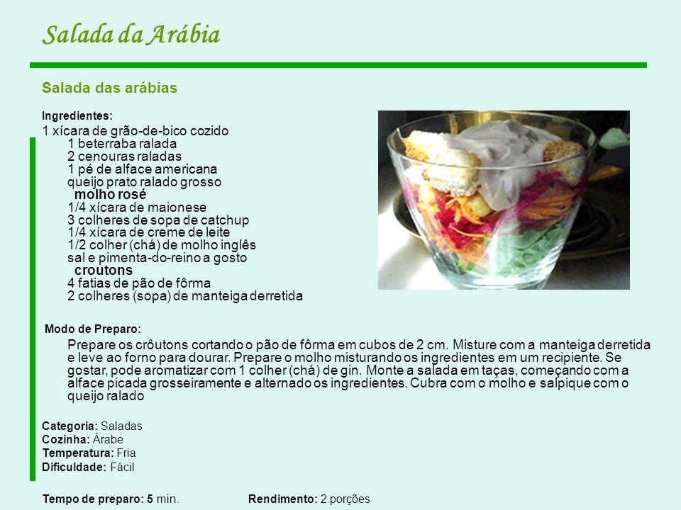 Salada da Arábia Salada das arábias