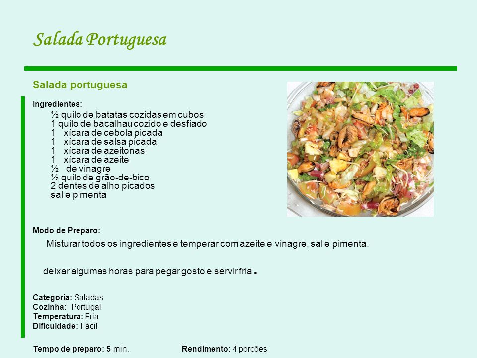 Salada Portuguesa Salada portuguesa