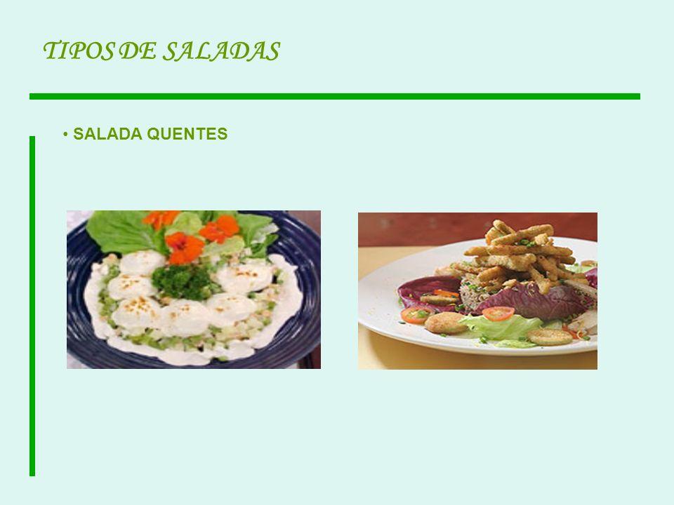 TIPOS DE SALADAS SALADA QUENTES