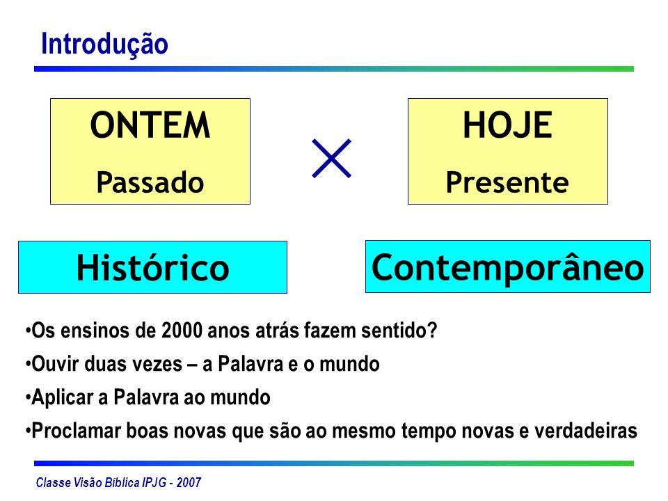 ONTEM HOJE Histórico Contemporâneo
