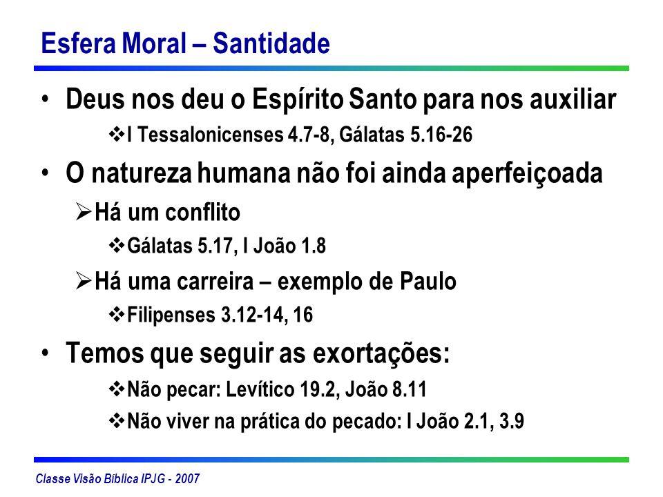Esfera Moral – Santidade