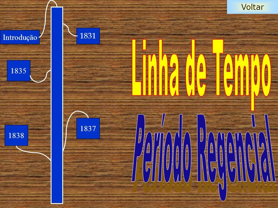 1831 Introdução Linha de Tempo 1835 Período Regencial 1837 1838