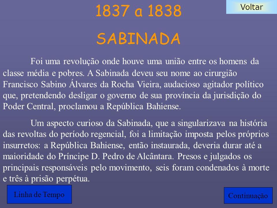 1837 a 1838 SABINADA.