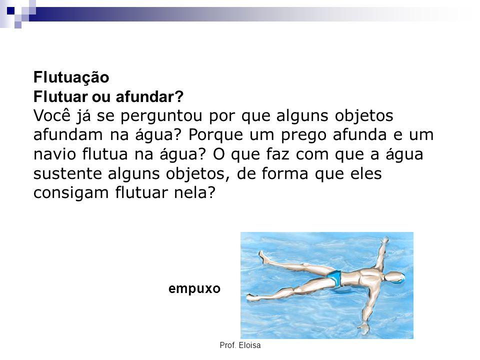 Flutuação Flutuar ou afundar