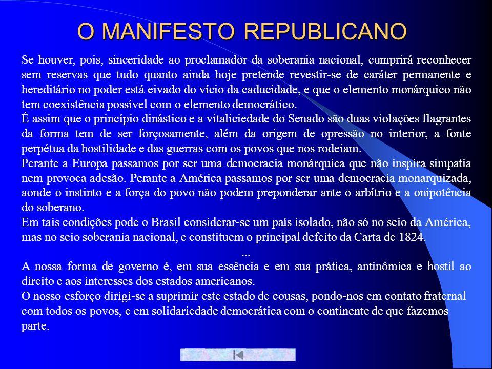 O MANIFESTO REPUBLICANO