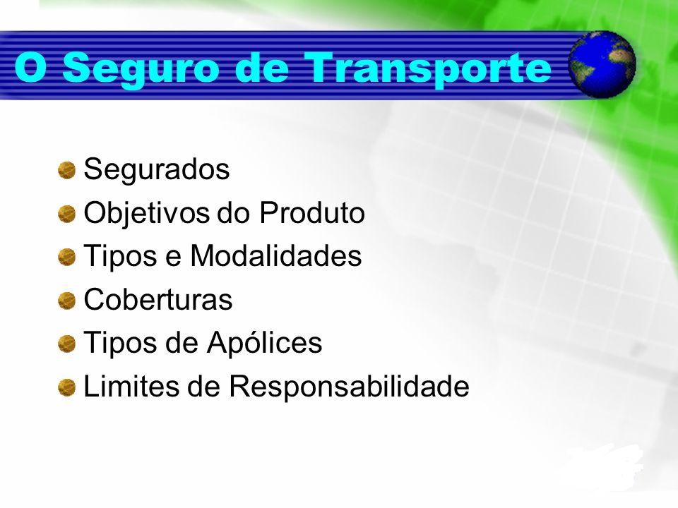 O Seguro de Transporte Segurados Objetivos do Produto