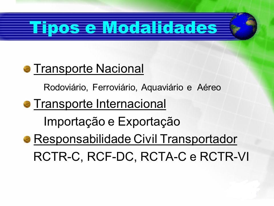 Tipos e Modalidades Transporte Nacional