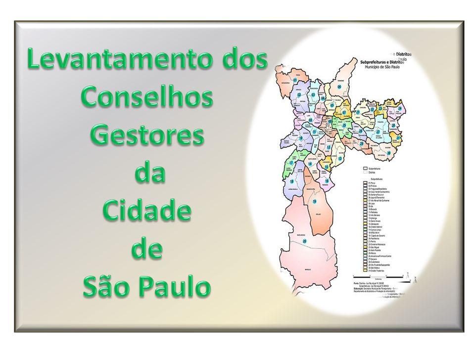 Levantamento dos Conselhos Gestores da Cidade de São Paulo