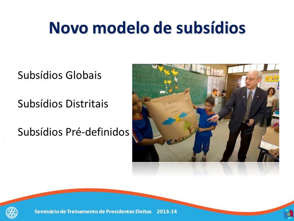 Novo modelo de subsídios
