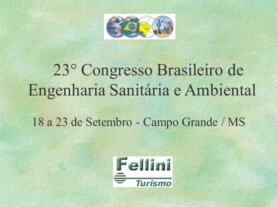 23° Congresso Brasileiro de Engenharia Sanitária e Ambiental