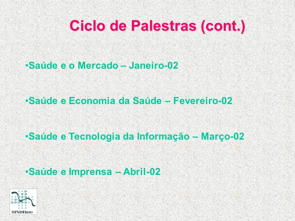 Ciclo de Palestras (cont.)